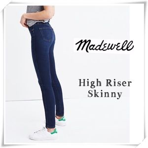 NWOT Madewell High Riser Skinny Jeans Dark Washed